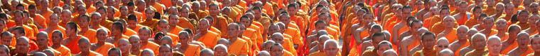 a gathering of many monks