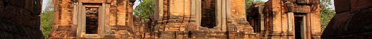 towers of a Khmer temple ruin
