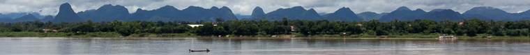 mountains along the Mekong River