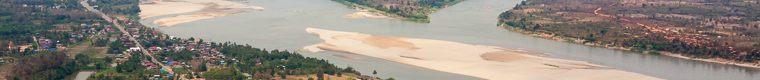 sandbar in Mekong River