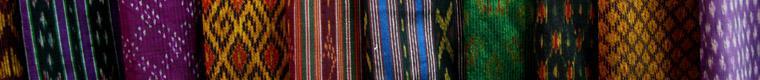 several silk fabric patterns