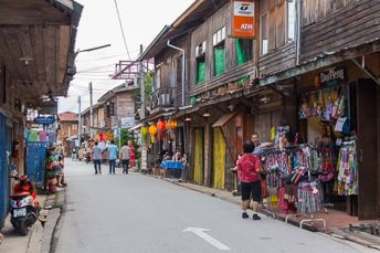 street with wooden buildings