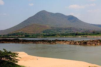 mountain along Mekong River
