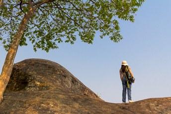 woman looking at viewpoint