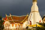 temple building and stupa