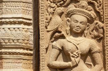 apsara carved in sandstone