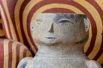 pot with a face