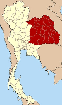 map showing isan region