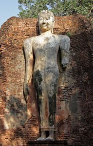 ancient standing Buddha