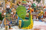 lots of colorful statues