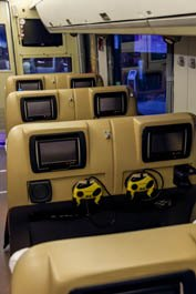 luxury seats in a bus