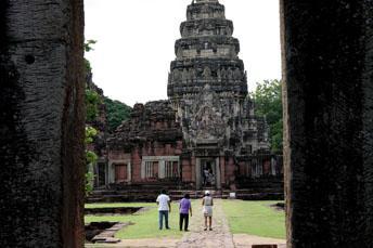 people looking at Phimai Khmer ruin
