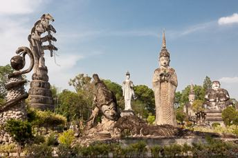 various Buddha and other giant sculptures
