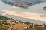 sandbar in a river