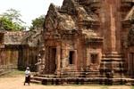 entrance to a Khmer temple ruin