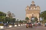 patuxai arch in Vientiane city