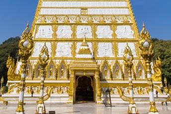 gold and white stupa